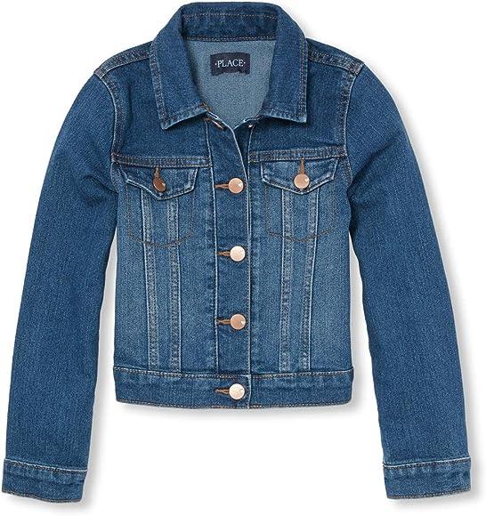 8ef2f123b Amazon.com: The Children's Place Big Girls' Denim Jacket, AZUREWASH ...