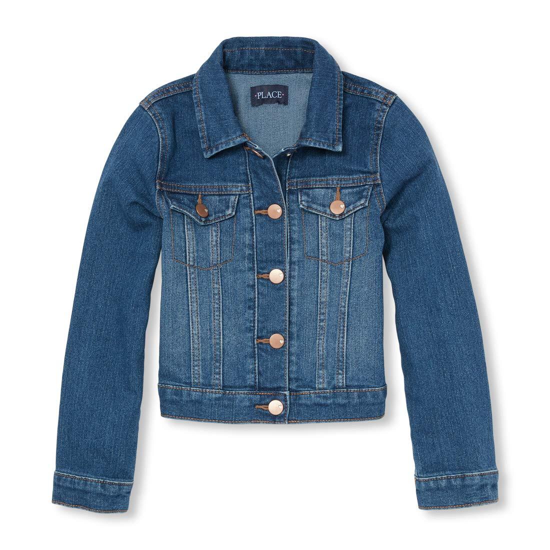 The Children's Place Big Girls' Denim Jacket, AZUREWASH, M (7/8) by The Children's Place