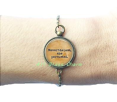 Amazon Com Charming Bracelet Nevertheless She Persisted Bracelet