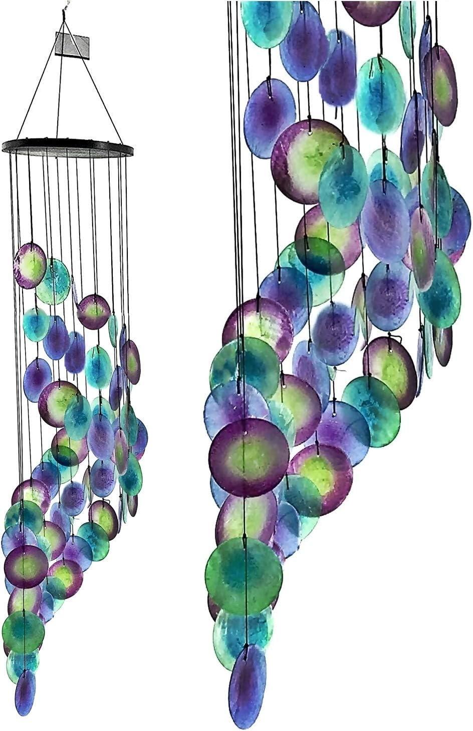 Llamador de Ángeles Artesanal (diseño de pavo real)