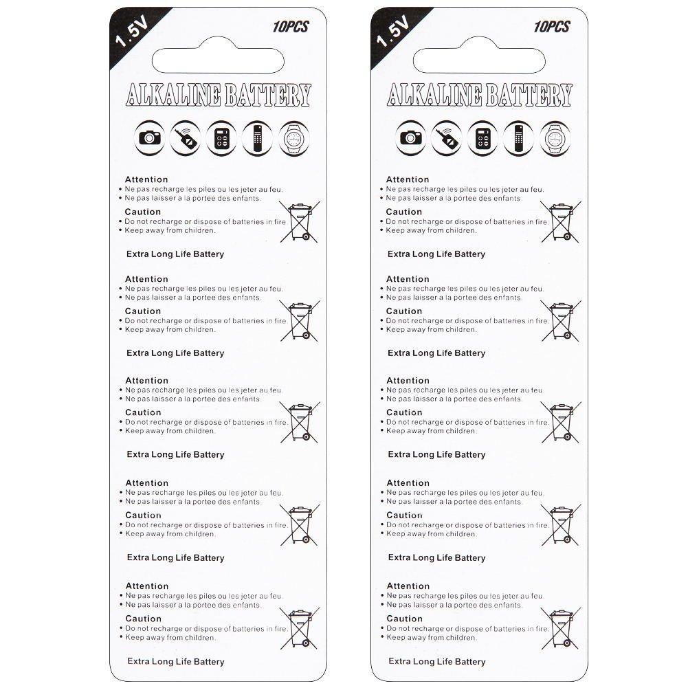 Fortune LR44 AG13 Alkaline 1.5V Button Coin Cell Batteries (20pcs): Amazon.es: Electrónica