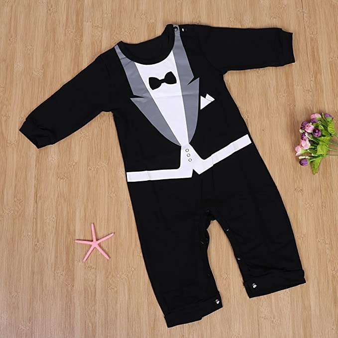 03c1ac7c5891 Chinatera Boy s Romper Dress Suits Long Sleeve Suits  Amazon.in ...