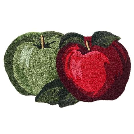 Ustide Fruit Rug Apple Orchard Bath Rug/Kitchen Area Rug 17.7u0026quot ...