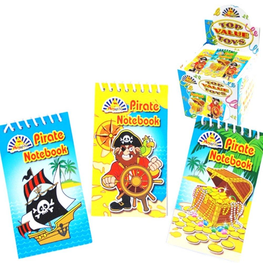 Box of 120 Multicoloured Playwrite pirata quaderno con rilegatura a spirale