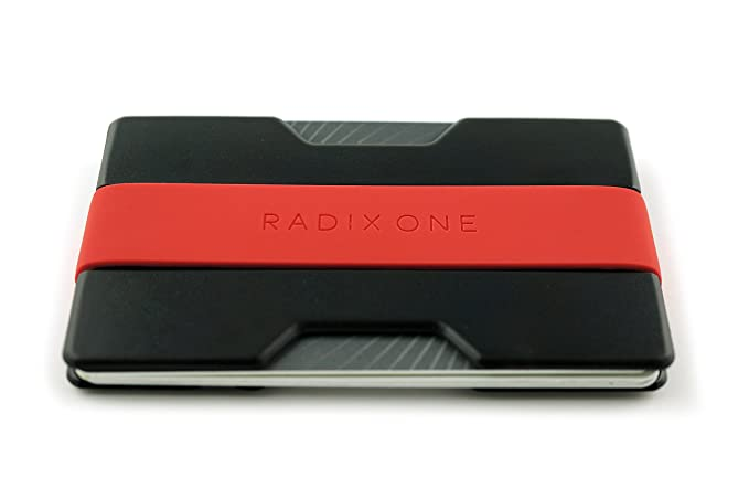 Radix One Slim Wallet (Black/Red)
