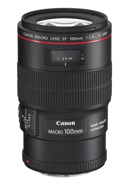 Canon EF 100 mm f/2.8L is USM Macro Prime Lens for Canon DSLR Camera  Black  DSLR Camera Lenses