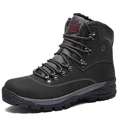 2d16f234cef Winter Boots Mens Womens Snow Boots Warm Adults Faux Fur Ankle Boots Shoes  Ladies Footwear with Fully Fur Lined Lining & Rubber Sole for Casual ...