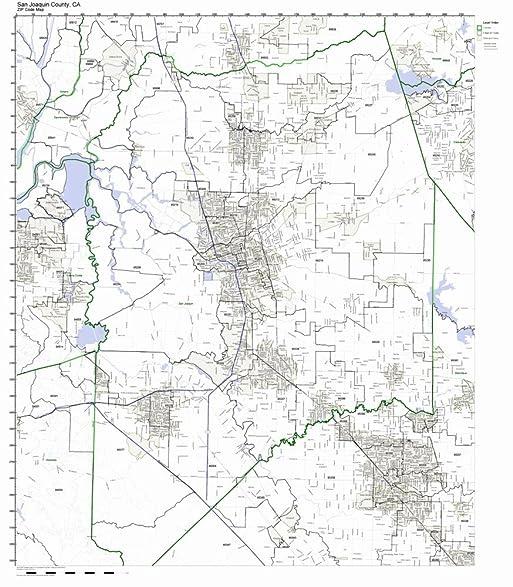 Amazoncom San Joaquin County California CA ZIP Code Map Not - A california zip code