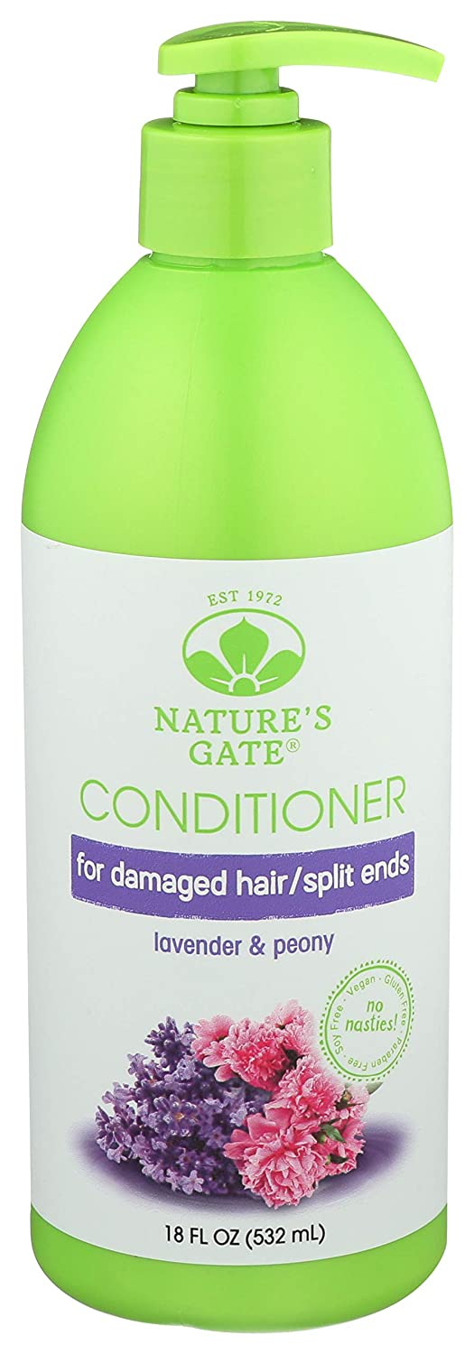 Nature's Gate Lavender + Peony Replenishing Conditioner, 18 Fluid Ounce