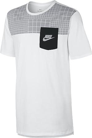 NIKE M NSW tee Drptl Av15 Pkt PRNT Camiseta de Manga Corta, Hombre: Amazon.es: Deportes y aire libre