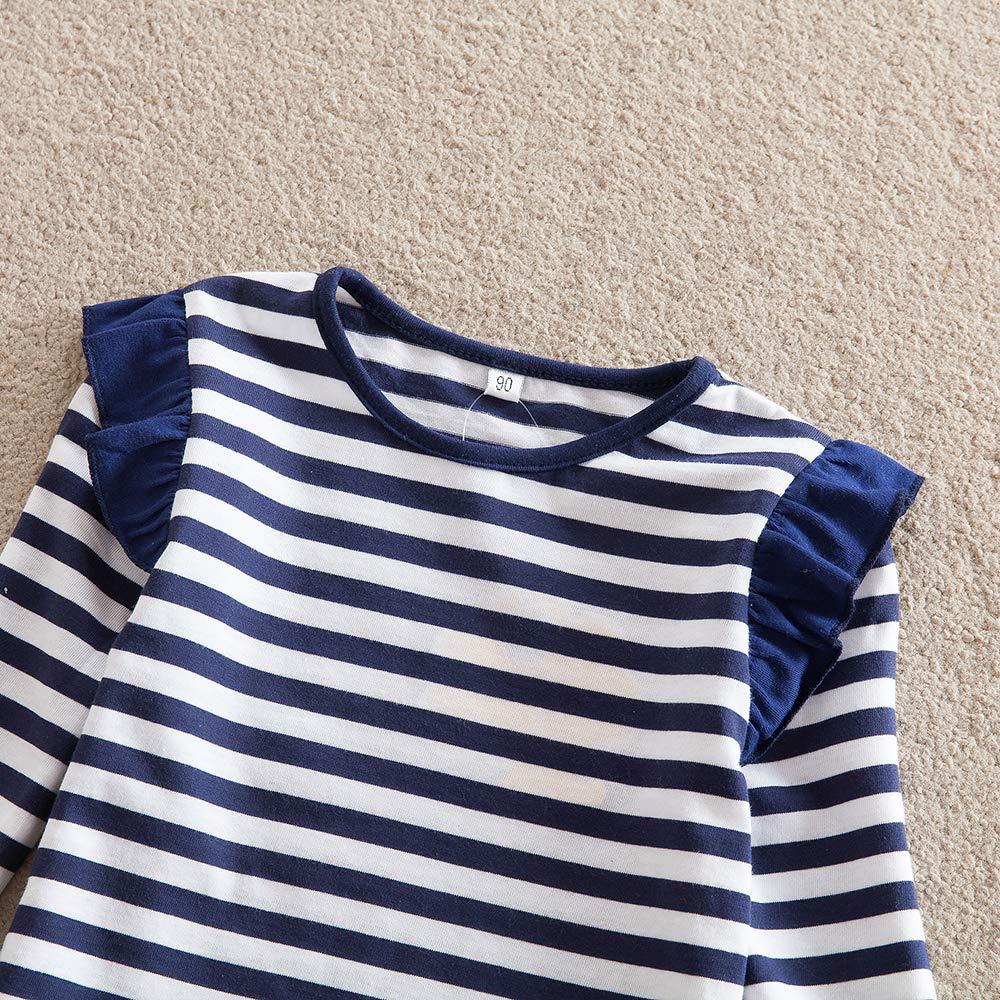 JUXINSU Girls Cotton Long Sleeve T-Shirt Denim Skirt Set for Winter and Autumn 2-7 Years TL612 (Navy, 4T) by JUXINSU (Image #5)