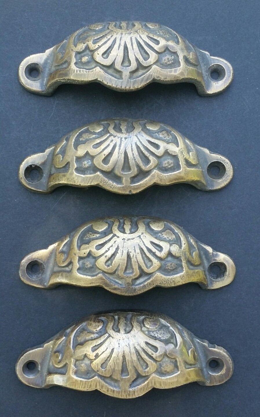 4 Apothecary Drawer Cup Bin Pulls Handles Antique Victorian Style 3 9/16'' #A2
