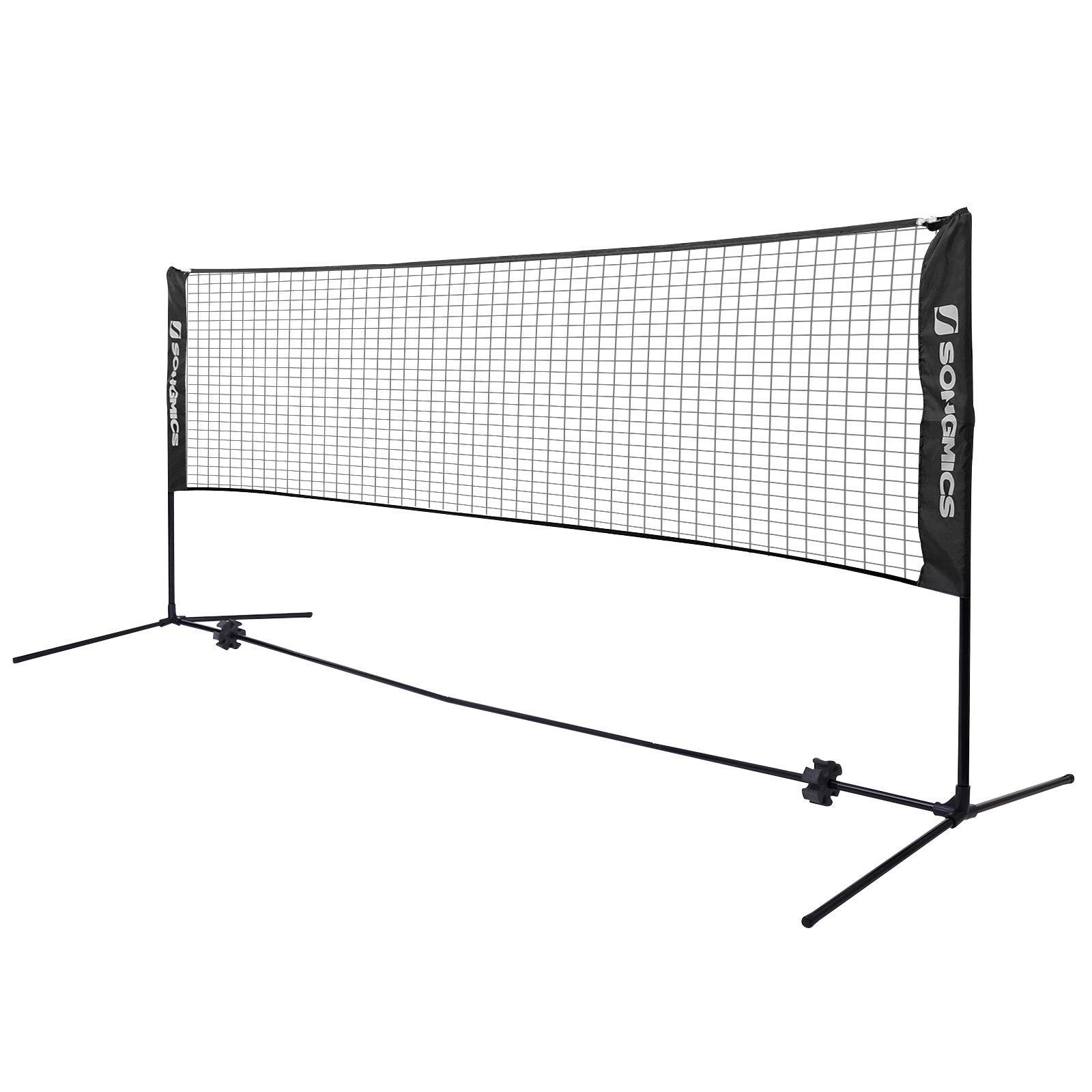 9.8 FT Badminton Net Set Portable Folding Removable Badminton Net with Poles and Stand Carry Bag Lightweight Easy Setup for Garden Court Backyard Beach Indoor Outdoor