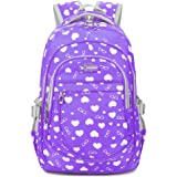 Heart Shaped Waterproof Backpack for Junior Grade or Kindergarten School Girls