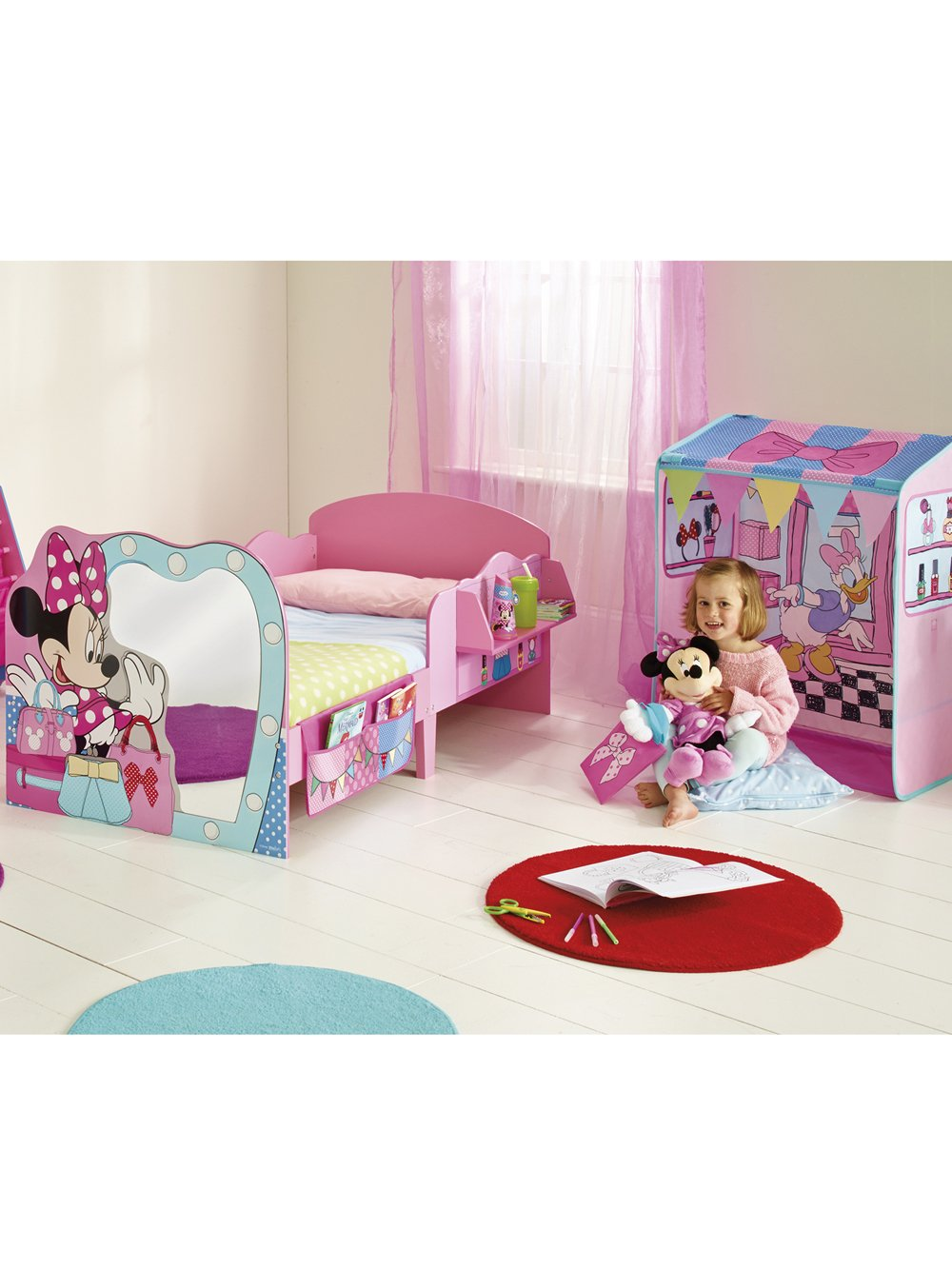 Disney Minnie Mouse Toddler Bed And Canopy By HelloHome Amazoncouk Kitchen Home