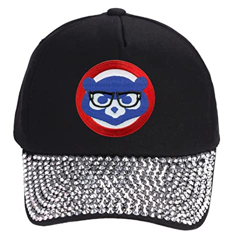 Chicago Cubs Hat With Joe Maddon Harry Caray Glasses - Cool Black ... b9adf6b883d