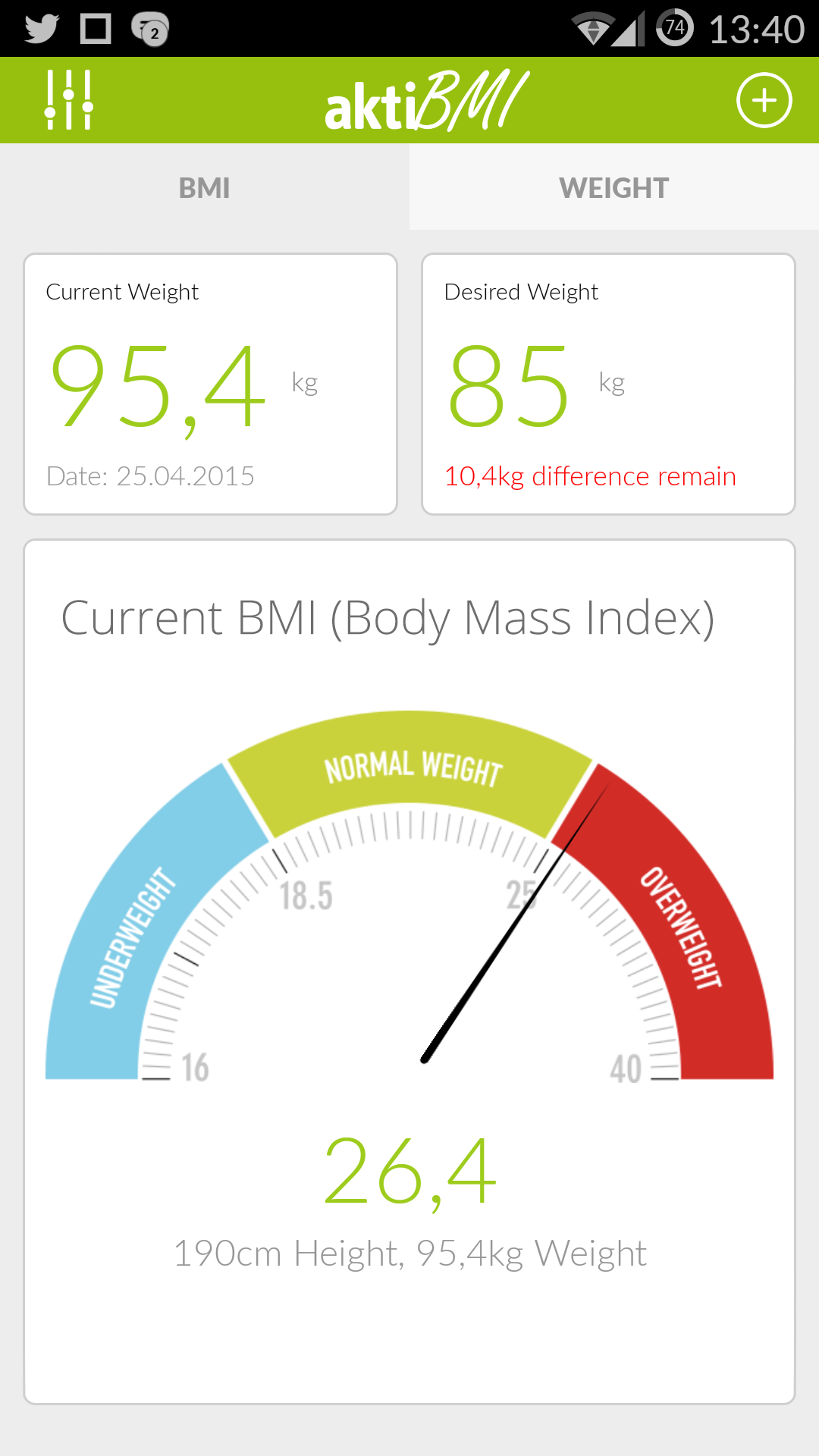 Amazon.com: aktiBMI - Weight Loss Tracker, BMI Calculator ...