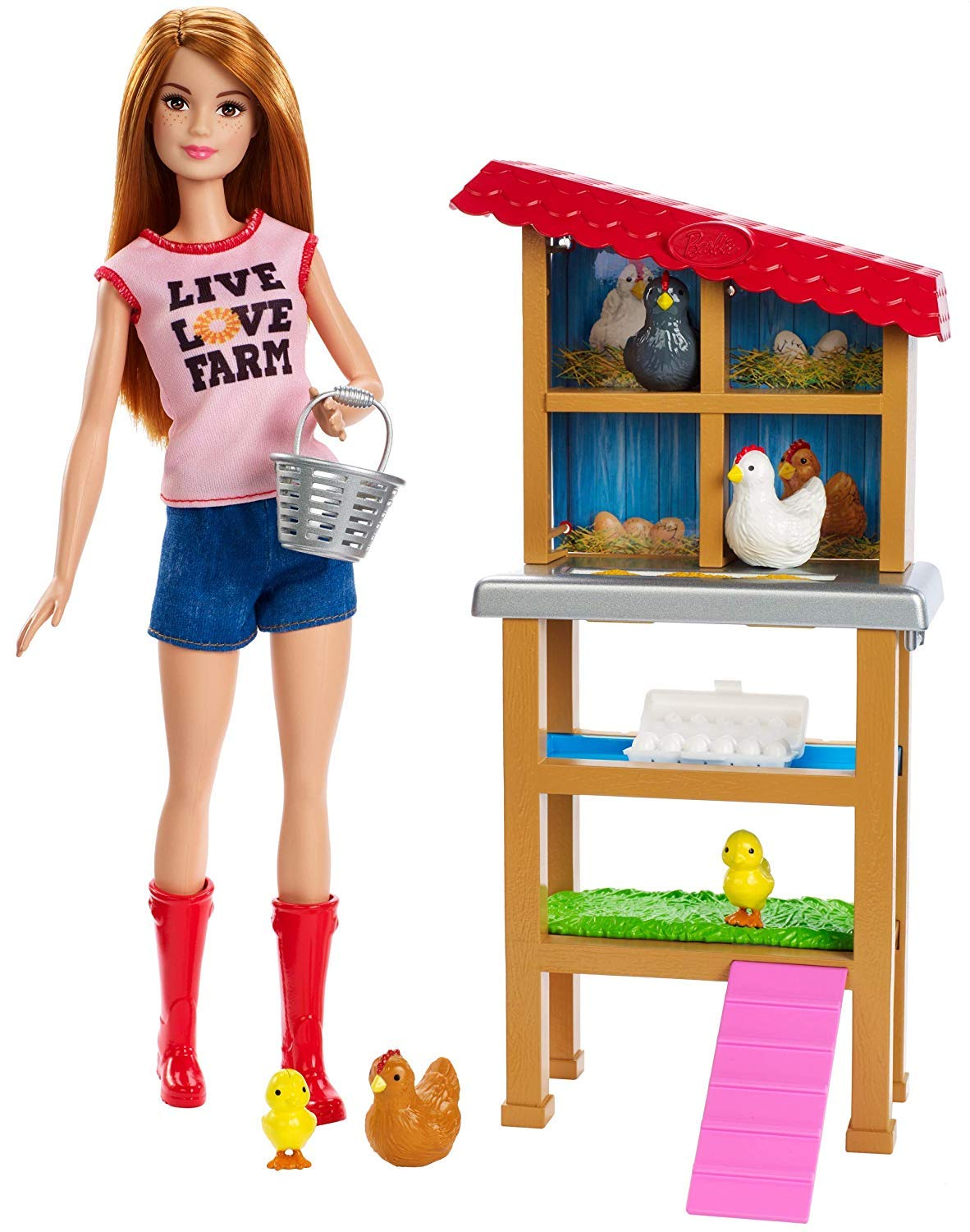 Barbie Chicken Farmer Doll & Playset by Barbie