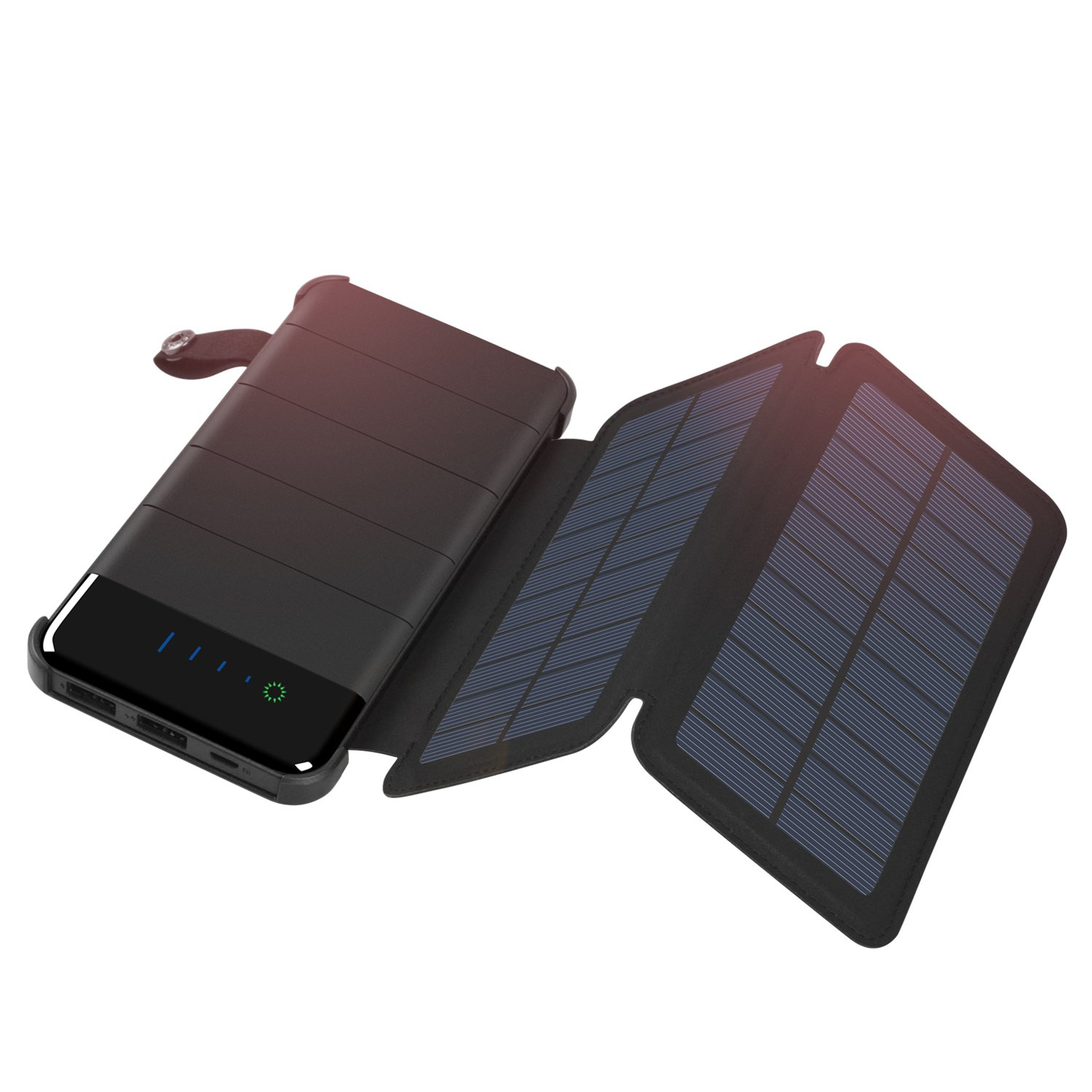 Solar Charger 10000mAh, ADDTOP Power Bank Waterproof Battery Pack Portable  phone charger for iPhone, iPad, Samsung, and More Smartphone