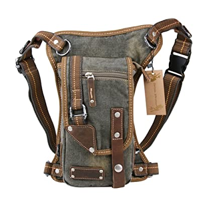 Genda 2Archer Casual Cowboy Style Tactical Leg Bag Pouch Hiking Messenger Fanny Bag