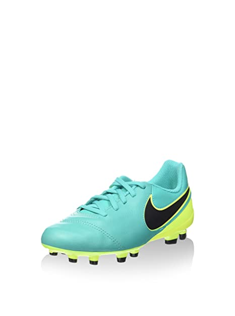 5a8dda86f Image Unavailable. Image not available for. Color: NIKE Jr. Tiempo Legend VI  FG (Clear Jade/Black/Volt) (
