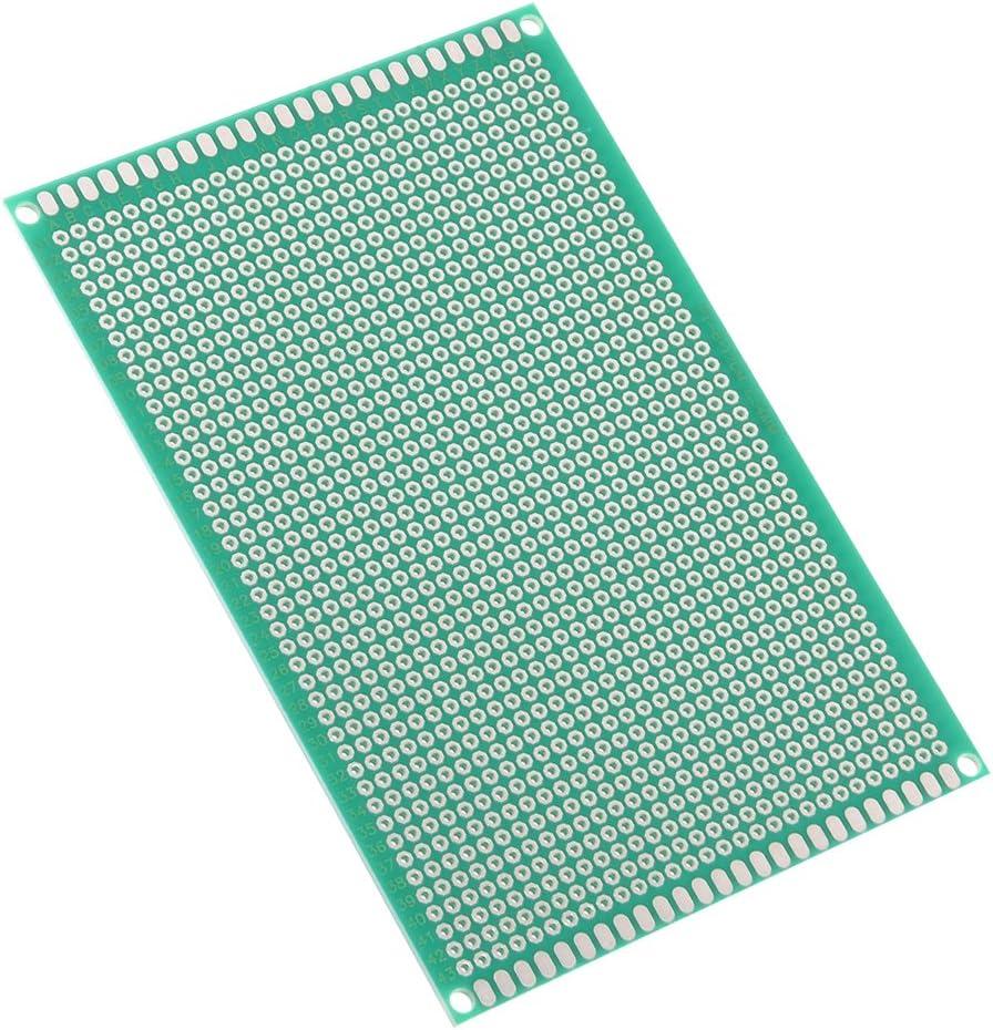 sourcing map 7x9cm universel simple face circuit imprim/é souder DIY 5pcs 1.6mm /épaisseur