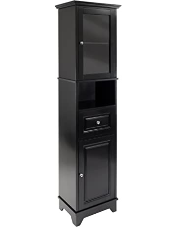 Winsome Alps Tall Cabinet with Glass Door and Drawer 804ee8b87