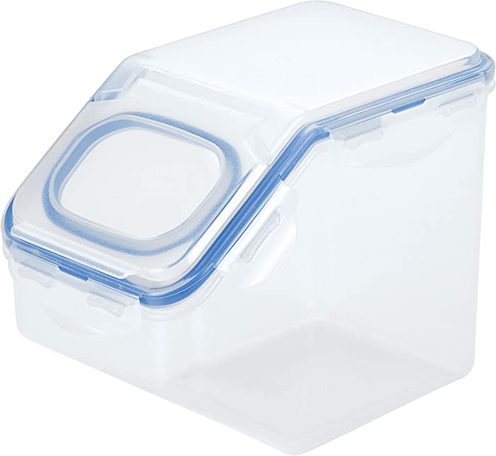 LOCK & LOCK Easy Essentials Food lids (flip-top) / Pantry Storage/Airtight containers, BPA Free, top-10.6 Cup-for Snacks, Clear