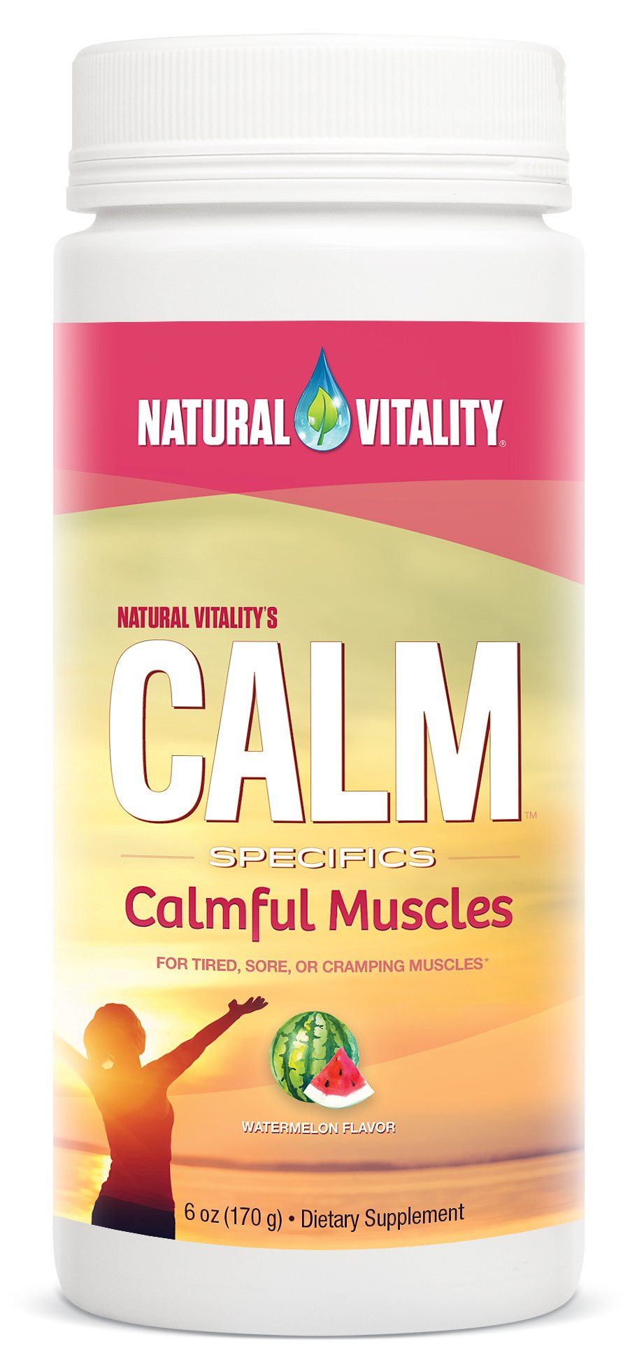 Natural Vitality Calm Specifics Calmful Muscles - for Tired, Sore, or Cramping Muscles - Watermelon 6 oz