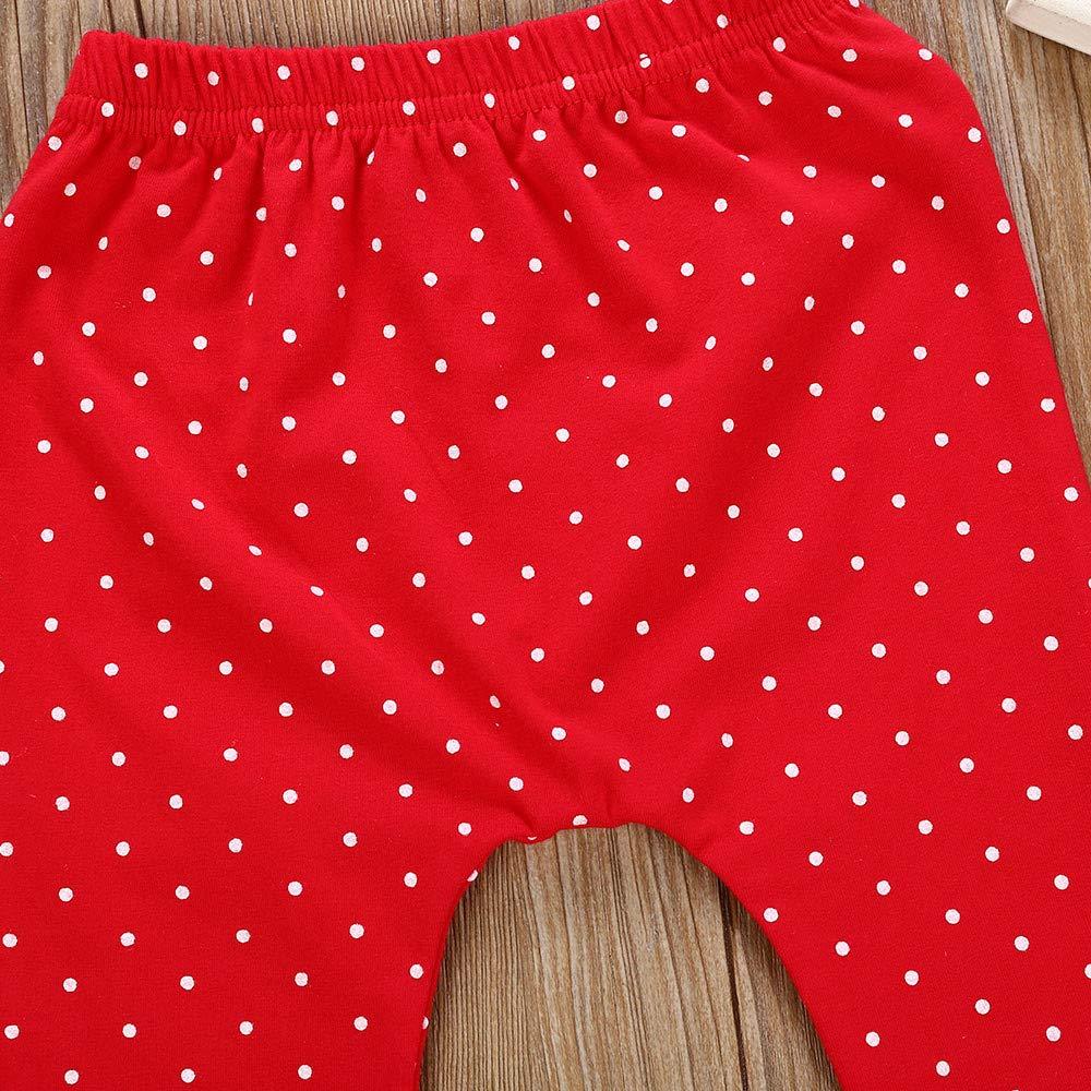 Pants Christmas Outfits Toddler Kids Baby Girls Long Sleeve Cartoon Print Tops