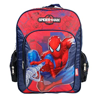 Amazon.com | Spider Man Full BackPack - SpiderMan Large School Bag ...