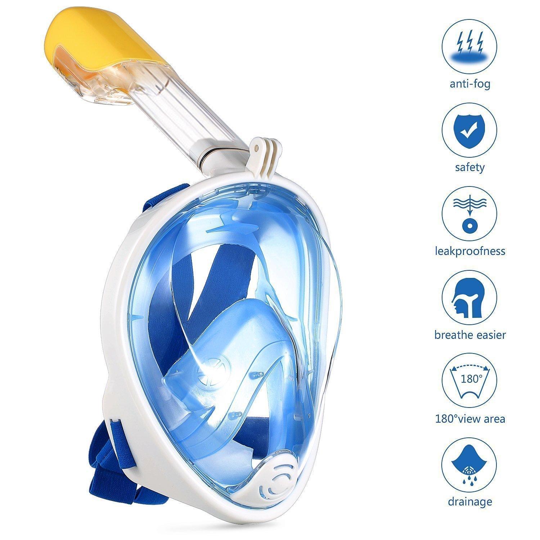 HUIMEIDE Masque de Plong/ée Seaview 180 Degr/és pour Adultes et Enfants