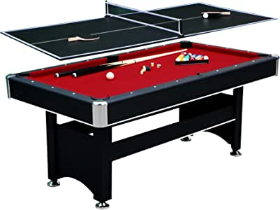 "Hathaway Spartan 6' Pool Table, 72"" L x 38"" W x 31"" H, Black"