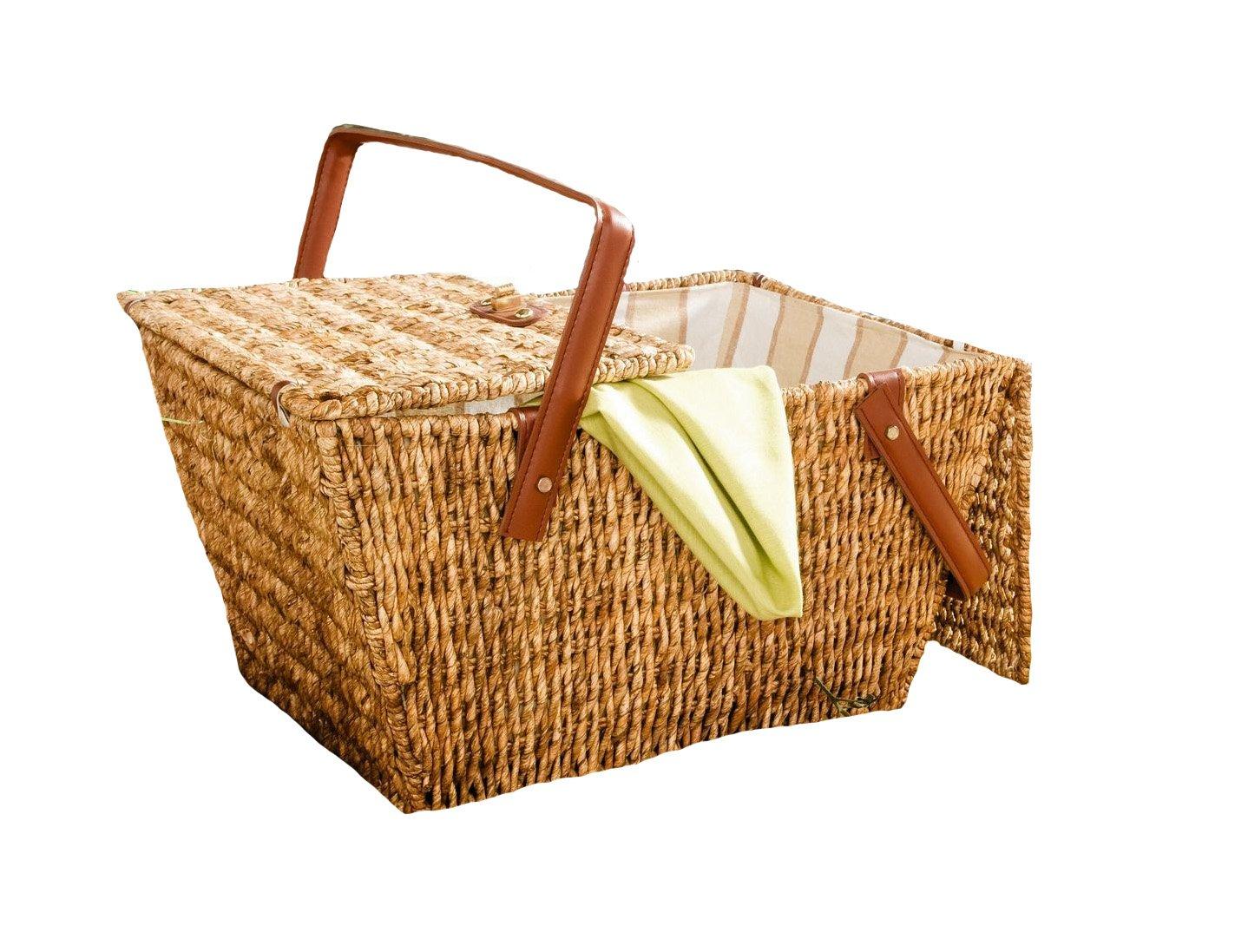*Picknickkorb aus Maisstroh*