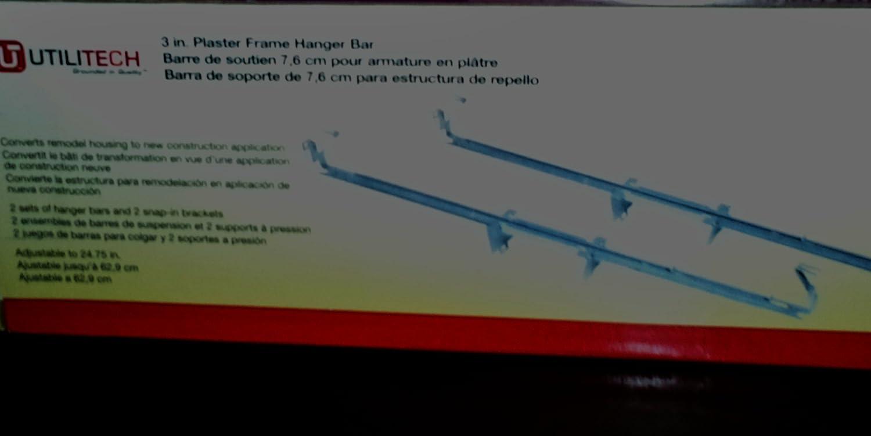 71Br 7 TaWL._SL1500_ utilitech 3 in plaster frame hanger bar (2 sets of hanger bars