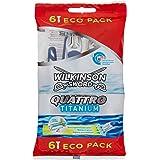 Wilkinson - Quattro Titanium - Rasoirs jetables masculins - Pack de 6