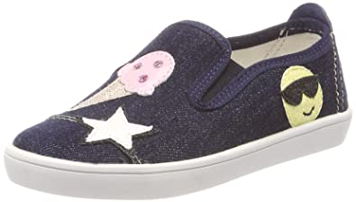 Living Kitzbühel Slip-on Mit Patches, Chaussons Fille, Bleu Marine, 33 EU