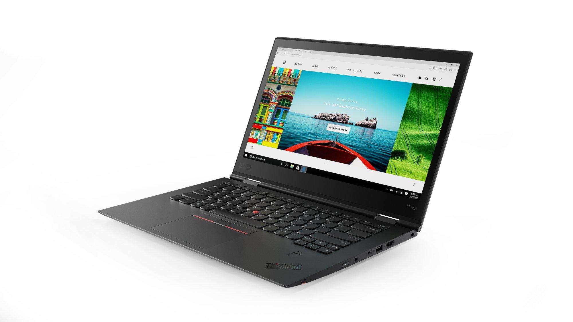 Lenovo 14″ ThinkPad X1 Yoga 3rd Gen Touchscreen LCD 2 in 1 Ultrabook Intel Core i7 (8th Gen) i7-8550U Quad-core (4 Core) 1.8GHz 8GB LPDDR3 256GB SSD Windows 10 Pro 64-bit (English) Black, 20LD001KUS