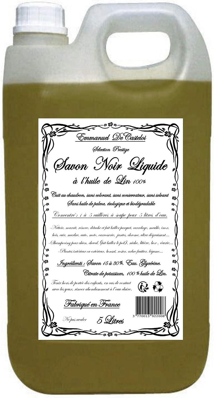 Jabón negro líquido con aceite de lino, selección prestige, jabón negro líquido de mermeager, natural, ecológico y biodegradable, 5 litros