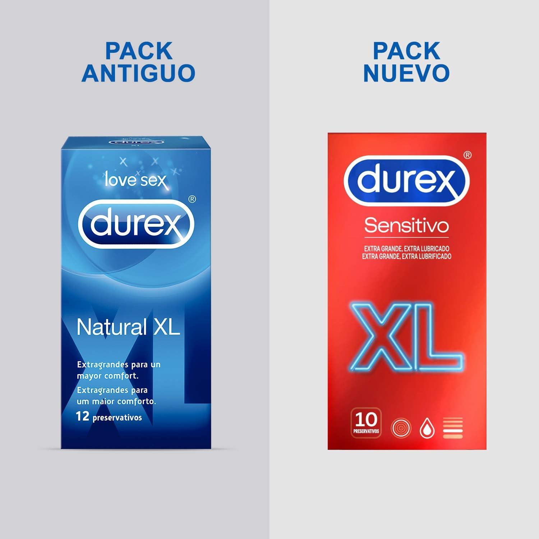 Durex Preservativos Sensitivo Suave para Mayor Sensación Talla XL - 10 condones más grandes: Amazon.es: Salud y cuidado personal
