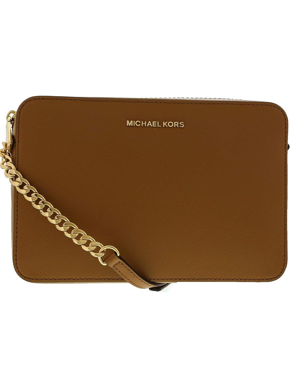 michael kors jet set ladies large acorn leather crossbody rh amazon com