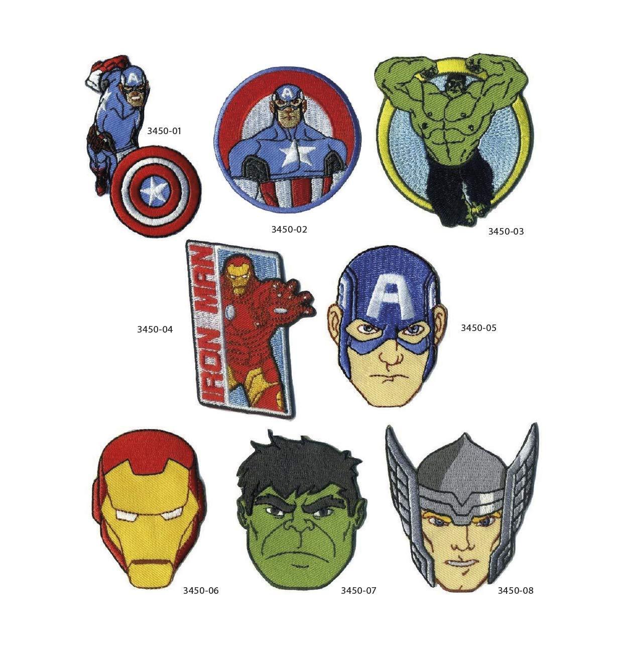 8 parches the avengers bordados para planchar REF.3450-U8