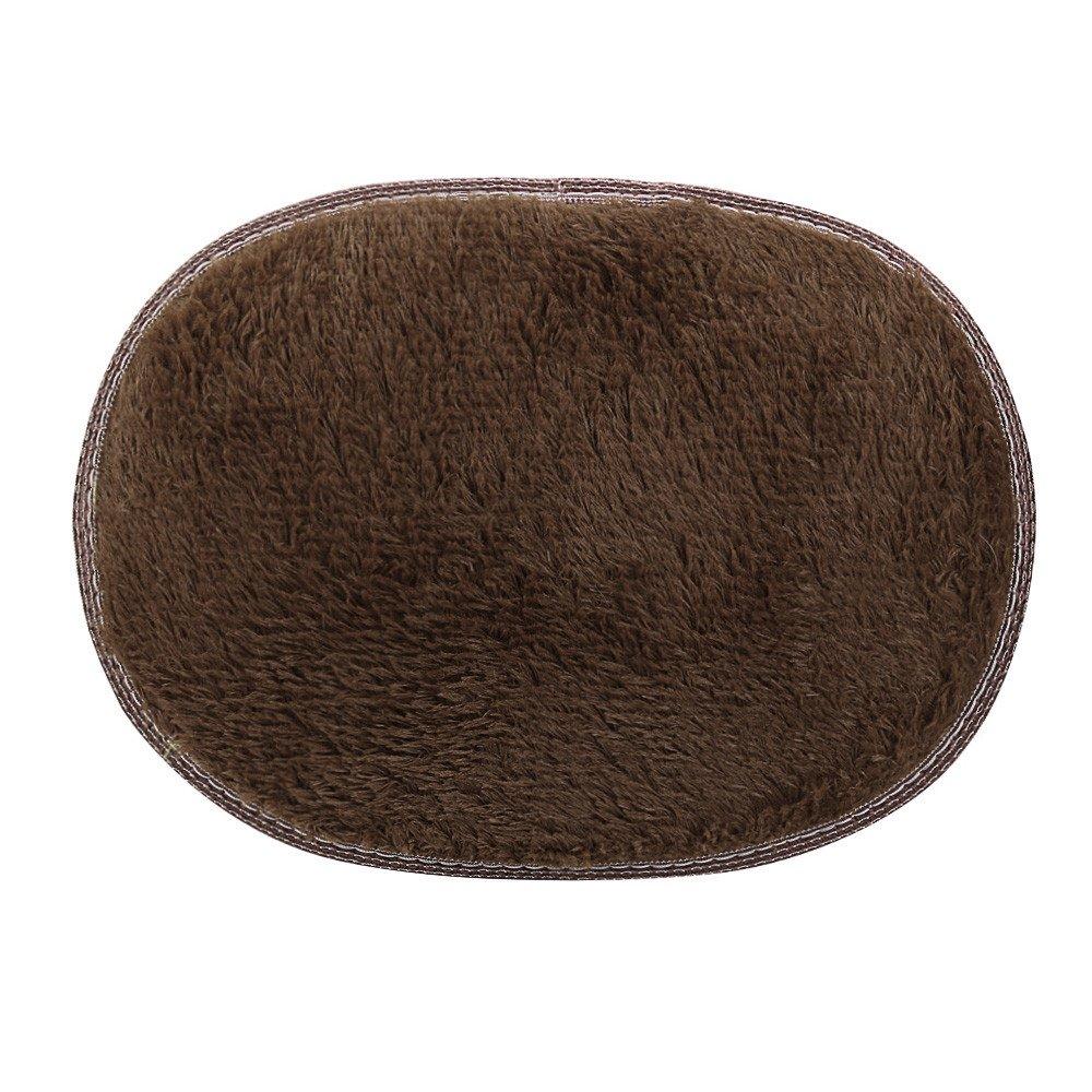 Connia 30 X 40cm Anti-Skid Fluffy Shaggy Area Rug Home Bedroom Bathroom Floor Door Mat (coffee)