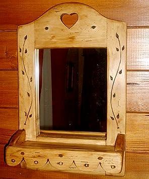 Miroir Artisanal en Bois déco Chalet Style scandinave: Amazon.fr ...