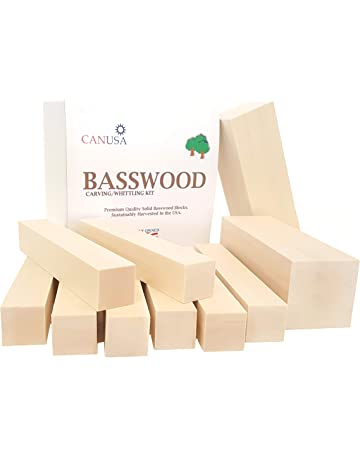 0faa7d3f97d Best Value Premium Basswood Carving Whittling Large Beginners KIT. 25% More  Wood Than