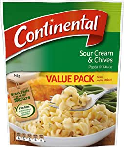 Continental  Sour Cream & Chives Pasta & Sauce Value Pack 145g
