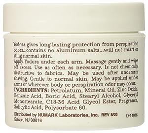 Yodora Deodorant Cream 2 oz (3 pack)