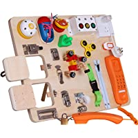 Montessori Busy Board for Toddlers-Busy Board Toys Learn to Dress Toys for 1 2 3 4 Year Old Kids - Learning Toy for…