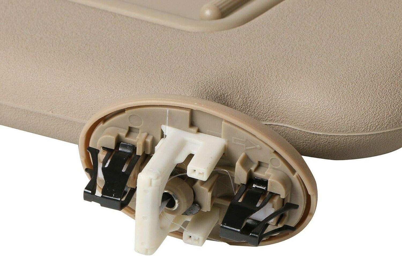MOSTPLUS 74320-42501-A1 Left Driver Side Sun Visor Beige Sunshade Compatible for Toyota RAV4 2006 2007 2008 2009 2010 2011 2012
