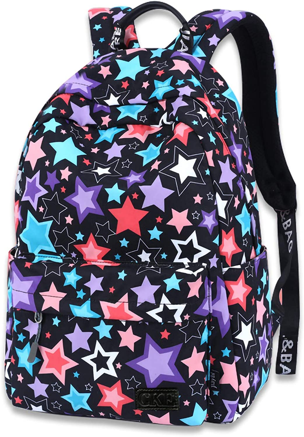 Galaxy Backpack School Backpack for Kids Boys Girls Teens Student Stylish Unisex Canvas Laptop Backpack with Pencil Bag